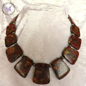 Picasso Jasper & Pyrite Necklace